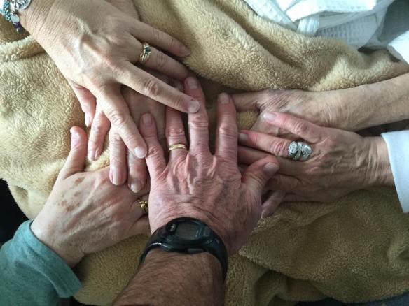 mom and sibs hands